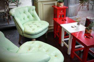 Ansicht vom Sitzbereich im Cafe Haus Koch